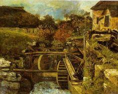Gustave Courbet - Le Moulin à papier Ornans, vers 1865