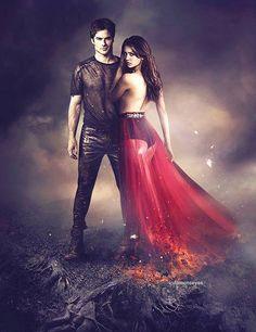 Season 5  Damon and Elena