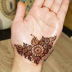 A doodle I did on my hand ages ago! I was testing out my henna paste and did this 💕 . Henna Hand Designs, Dulhan Mehndi Designs, Arte Mehndi, Mehendi, Mehndi Designs Finger, Palm Mehndi Design, Modern Henna Designs, Henna Tattoo Designs Simple, Mehndi Designs Feet