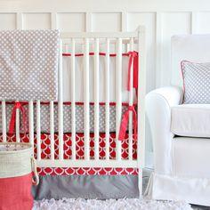 Caden Lane Crib Bedding Set Coral for Layla Grayce #laylagrayce #cadenlane