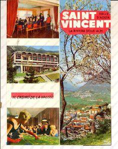 Saint Vincent (AO) Riviera delle Alpi - Pieghevole - 1960 ca