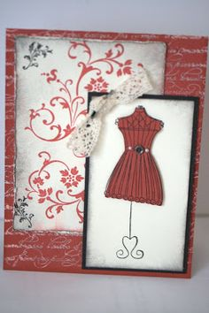 Designed by maryross: Vintage card, stampin up stamps and paper, details and pics