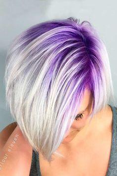 Very nice purple hair colors for short hair - Hair Style Pastel Purple Hair, Hair Color Purple, Cool Hair Color, Short Purple Hair, Pastel Blonde, Short Blonde, Blonde Hair Purple Roots, Purple Hair Styles, Short Pastel Hair