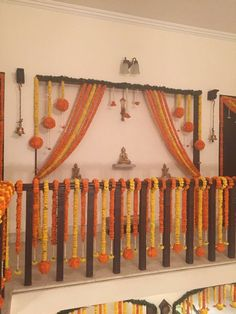 Awesome Wedding Entrance Decorations At Home 34 Housewarming Decorations, Diy Diwali Decorations, Marriage Decoration, Wedding Stage Decorations, Backdrop Decorations, Flower Decorations, Backdrops, Flower Garlands, Birthday Decorations