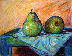 This is one of my favorite still lifes done in oil pastel.  Check out others by clicking on the link.  http://kendall-kessler.artistwebsites.com/