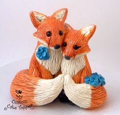 OOOOOOHHHHH MMMYYYYYY GOOOOOOODDDDD. DEPOSIT Fox in Love Wedding Cake Topper Custom