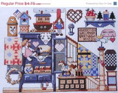 ON SALE Charming Jeremiah Junction COUNTRY by ThePamperedStitcher, $2.38