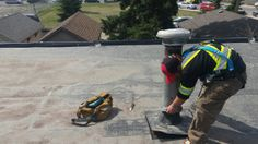 Flat roofing chimney deletion on commercial roof and patching of the hole that it left behind after we uninstalled the chimney on this EPDM flat roof. Flat Roof Repair, Bragg Creek, Calgary, Flats, Loafers & Slip Ons, Ballerinas, Apartments