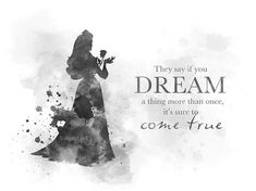 Dreams can come true black and white mixed media by my inspiration Disney Princess Quotes, Disney Movie Quotes, Arte Disney, Disney Art, Princesse Aurora, Fairytale Quotes, Magical Quotes, Art Prints Quotes, Quote Art