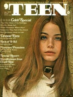 """Teen Magazine -- January 1971 -- Susan Dey -- every girl wanted to look like her.  Partridge Family"