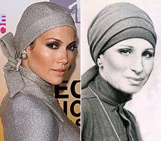 Shining star: J-Lo at the awards. Right: Barbra Streisand.