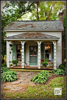 Lyla's Little House. When I am old and alone, I will live in a tiny house like this. As long as it has a basement.