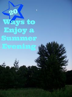 FUN Things to do on a Summer Night 20 Ways to Enjoy a Summer Evening - great ideas for some nighttime fun with the Ways to Enjoy a Summer Evening - great ideas for some nighttime fun with the kids! Summer Fun For Kids, Summer Activities For Kids, Summer Of Love, Fun Activities, Outdoor Activities, Outdoor Learning, Summer Evening, Summer Nights, Family Fun Night