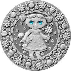 Belarus 2009 20 rubles Virgo UNC Silver Coin