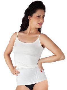 Shyle White Camisole Lounge Wear