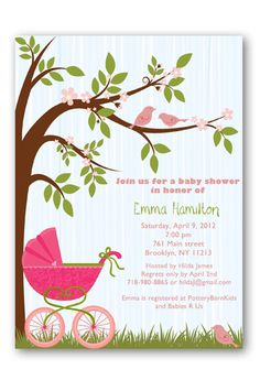 baby shower invitations for girls   Baby_Buggy_Baby_Shower_Invitations_Girl.jpg