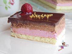 Entremet chocolat et framboise - Yumelise - Dessert Cake & Co, Vanilla Cake, Tiramisu, Deserts, Treats, Baking, Fruit, Ethnic Recipes, Direction