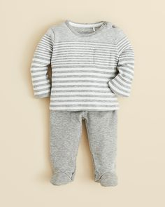 Vince Infant Boys' Stripe Top & Footed Pants Set - Sizes 0-9 Months | Bloomingdale's