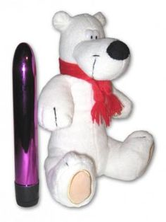 Hide-A-Vibe Collection Polar Bear is a great way to keep your vibrator hidden and out of sight. Looks like a regular stuffed animal but it is actually a discreet way to stow away your sex toys - $23.44