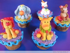 Cupcakes animales de circo - nana´s cakes Costa Rica