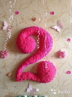 Цифра на день рождения (2 года) под заказ