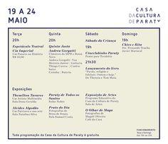 Confira o que vai rolar nesta semana, na Casa Da Cultura De Paraty  #CasaDaCultura #CasaDaCuturaParaty #cultura #turismo #exposição #fotografia #evento #arte #Paraty #PousadaDoCareca