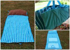 OliviaCoon.com: Beach Towel Bag DIY