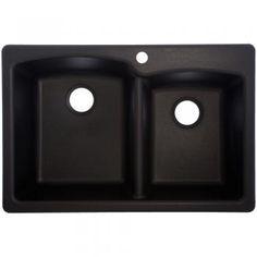 Franke USA | EOOX33229-1 - Composite Granite Offset Double Bowl Sink  $289 at Grandville Lowes