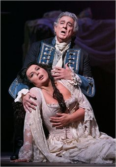 Placido Domingo and Maria Guleghina in Adriana Lecouvreur