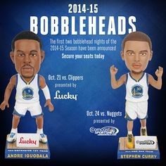 A pair of Bobblehead Nights at Oracle Arena highlight the 2014 Warriors preseason schedule. Preseason tickets are available now! Visit warriors.com or call 888-GSW-HOOP (Press 1) to secure your seats today.
