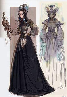 Star Wars Padme Amidala Packing Dress - Original Concept Art ✤ || CHARACTER…