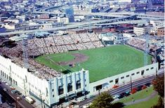 Seals Stadium - San Francisco Giants -Tenants: San Francisco Seals (PCL), Giants (MLB) -Capacity: 18,600 (original), 22,900 (final) -Surface: Grass -Cost: Unknown -Opened: April 15, 1958 (MLB) -Closed: September 20, 1959 -Demolished: November 1959