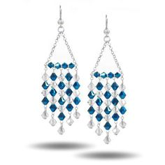 Beading Design Ideas - How to Create Swarovski Chandelier Earrings from TooCute beads #seaglassearringsideas