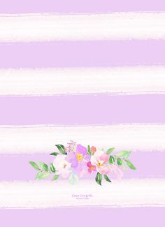 Watercolor flowers top bottom iphone 6 wallpaper lovely simple purple and white background with floral pattern Wallpaper For Your Phone, Wallpaper Iphone Cute, Cellphone Wallpaper, Mobile Wallpaper, Cute Backgrounds, Phone Backgrounds, Wallpaper Backgrounds, Attractive Wallpapers, Cute Wallpapers