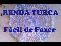 RENDA TURCA Passo a Passo Como Fazer PARTE 2 - YouTube Needle Lace, Bobbin Lace, Home Crafts, Diy And Crafts, Lace Making, Tenerife, Hacks Diy, Embroidery Stitches, Beach Mat