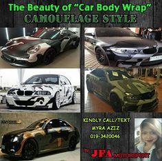 "Body Wrap ""Camouflage Style"". Call/Whatsapp 0193420046"