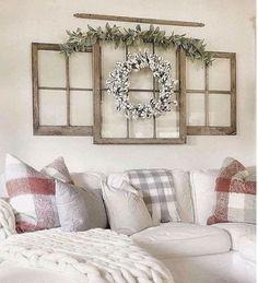 29 Cozy Modern Farmhouse Style Living Room Decor Ideas #homedecorlivingroomcozy