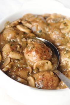 Meatballs in Mushroo