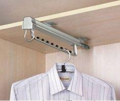 Armario-extraible-de-suspension-de-ropa-Premium-sacar-Ferrocarril-Colgador