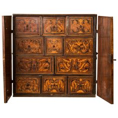 Exsquisite Bargueño Inlaid Walnut   From a unique collection of antique and modern wardrobes and armoires at https://www.1stdibs.com/furniture/storage-case-pieces/wardrobes-armoires/