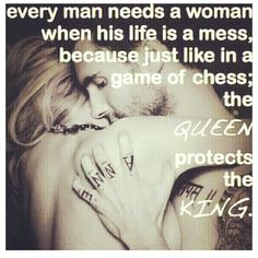 every man needs a woman... #quotes