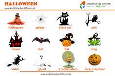 Blíží se nám HALLOWEEN, a proto je třeba vybavit se dostatečnou slovní zásobou. #anglictina #slovicka #halloween Halloween Spider, Owl House, Teaching English, Witch, Comics, Witches, Cartoons, Witch Makeup, Comic