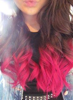 Pink dip dye