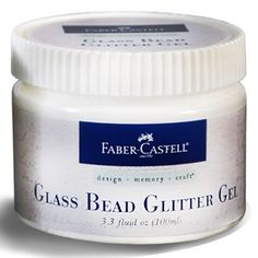 Glass Bead Glitter Gel contains fun glitter beads that add instant dimension to any mixed media project!