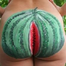 Looking for Funny Body Art wallpaper and image with High Quality? Camouflage, Full Body Paint, Watermelon Art, Most Famous Artists, Woman Painting, Sexy Body, Female Art, Human Body, Body Art