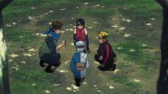Konohamaru, Boruto, Sarada and Mitsuki - Boruto: Naruto Next Generations
