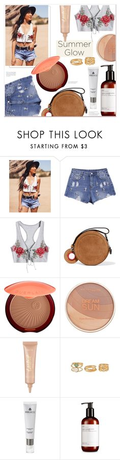 """""""Summer's Glow"""" by mycherryblossom ❤ liked on Polyvore featuring Carven, Guerlain, Maybelline, tarte and Borghese"""
