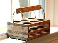 Handmade Wood 6-Bottle Beer Carrier-- Homebrew Gift. $50.00, via Etsy.