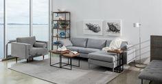 $1899 - Nova Winter Gray Left Sectional Sofa - Sectionals - Article | Modern, Mid-Century and Scandinavian Furniture