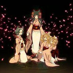 Zakuro, Susukihotarou, Bonbori and Hozuki